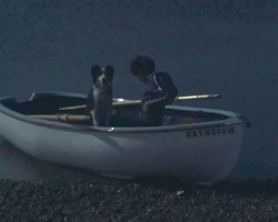 screenshot: George und Timmy im Boot