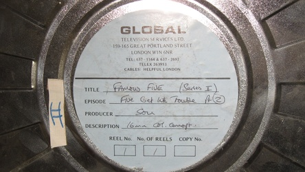English 16mm positive film reel from Global Television Services Ltd.